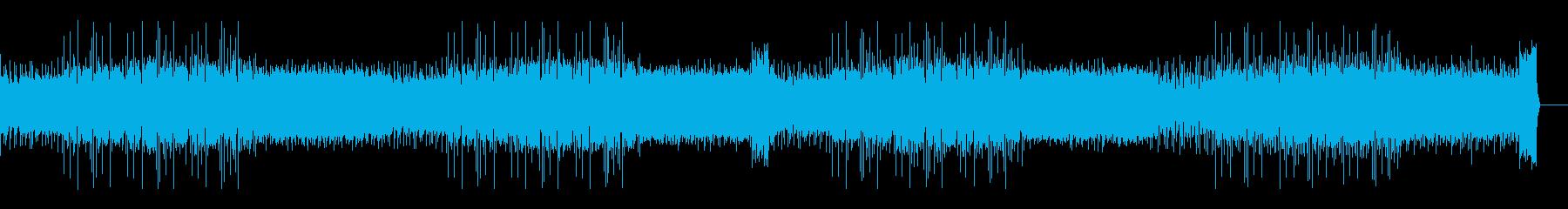 緊迫感・疾走感あるサスペンス系のBGMの再生済みの波形