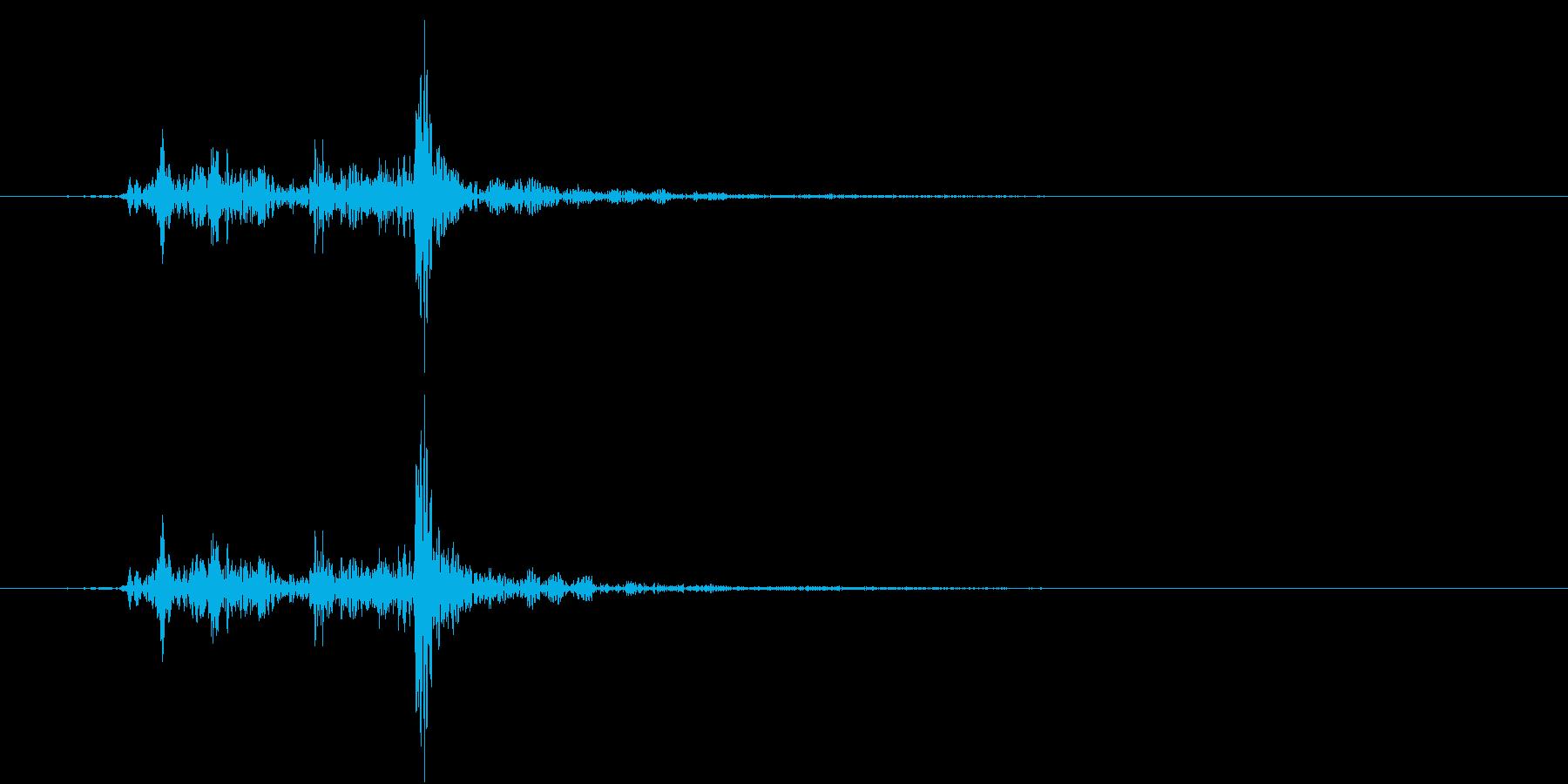【生録音】ハサミで切る音 チョキ!!の再生済みの波形