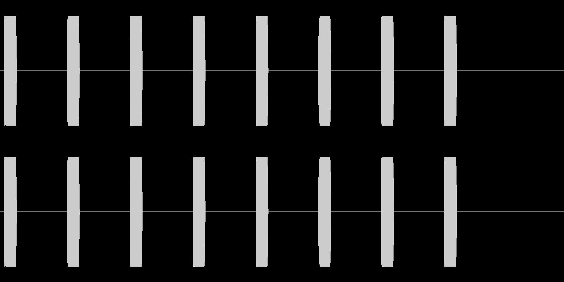 コミカルな足音 B-1-3の未再生の波形
