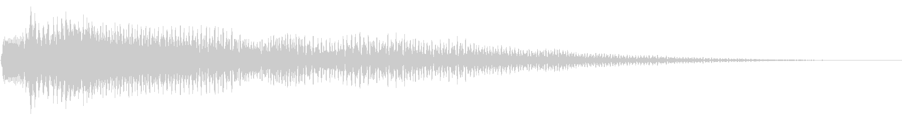 ジャラーン(歪んだ不思議なギターの音)の未再生の波形