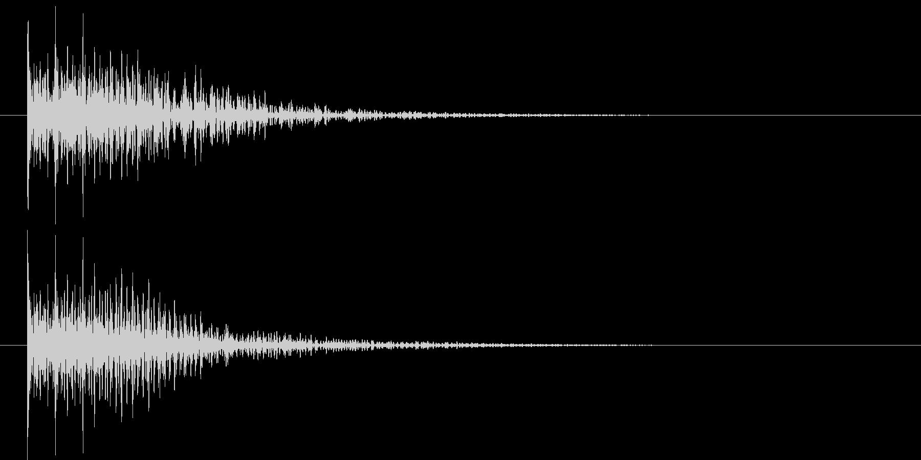 ドドドン(和太鼓)の未再生の波形