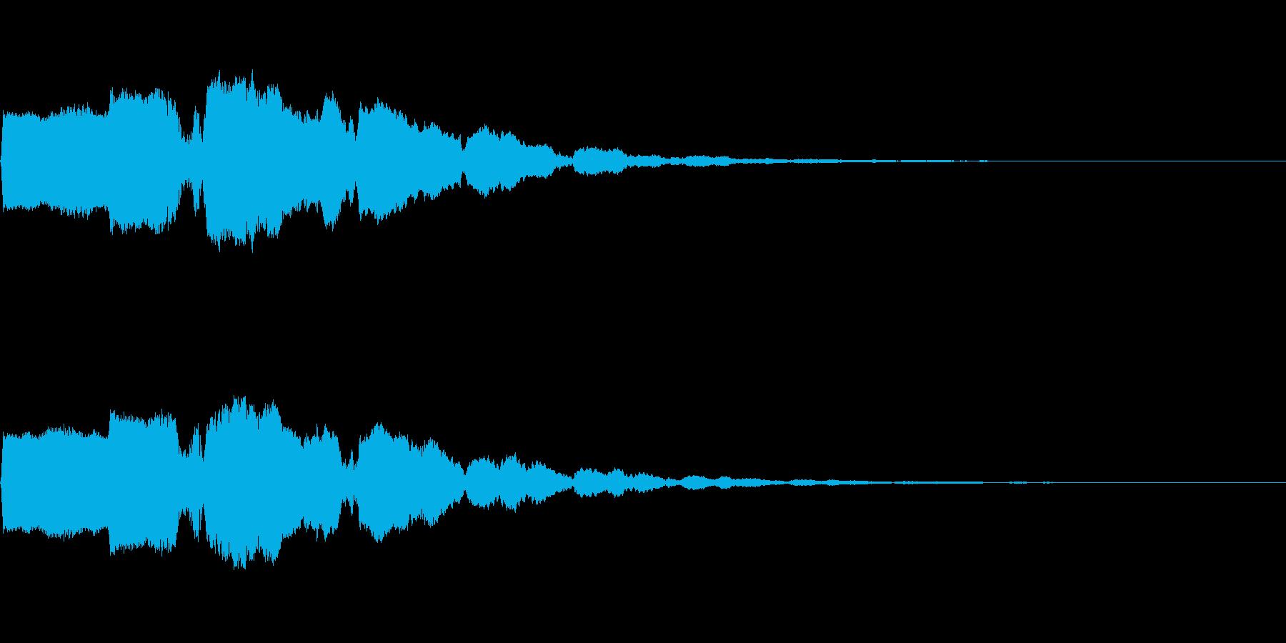 ボタン押下や決定音_ポキーン!の再生済みの波形