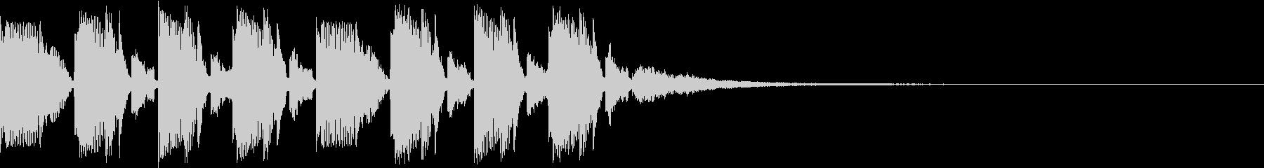 キャッチーノリノリEDMジングル3の未再生の波形