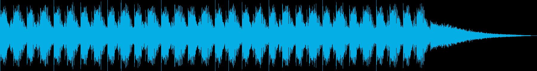 【ポーズ画面】明るくて、疾走感のある曲の再生済みの波形