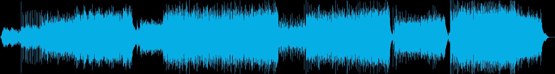 エレクトロなデジタルロックの再生済みの波形