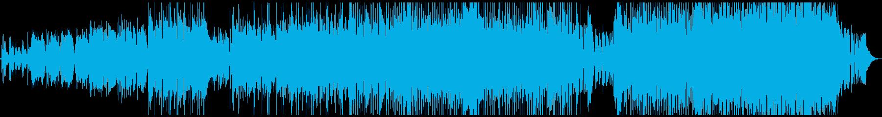 生演奏が魅力のロックバラードの再生済みの波形