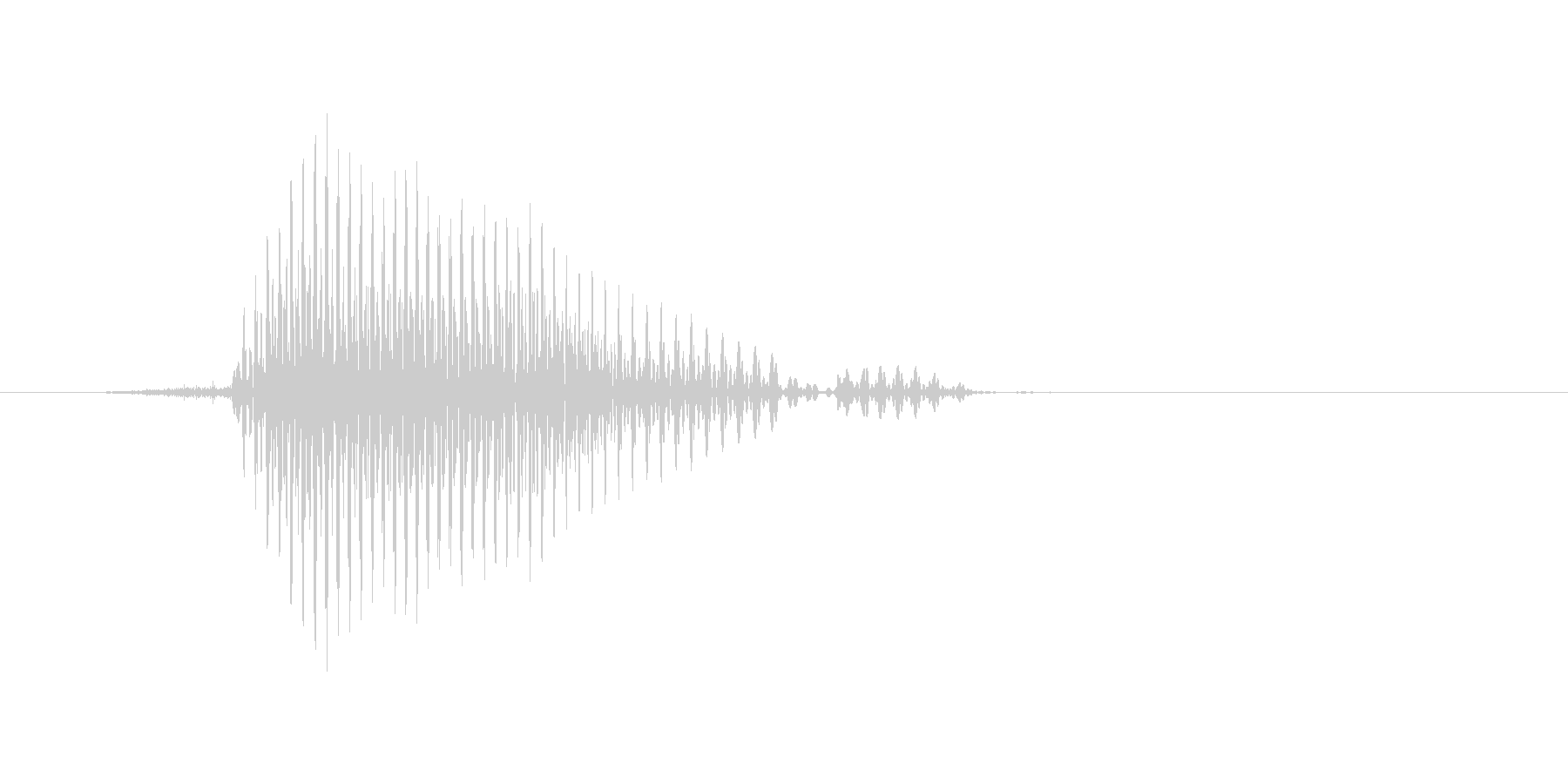 ファウルの未再生の波形