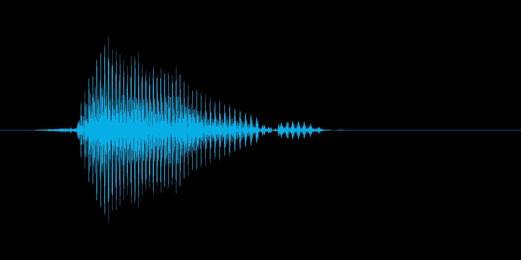 ファウルの再生済みの波形