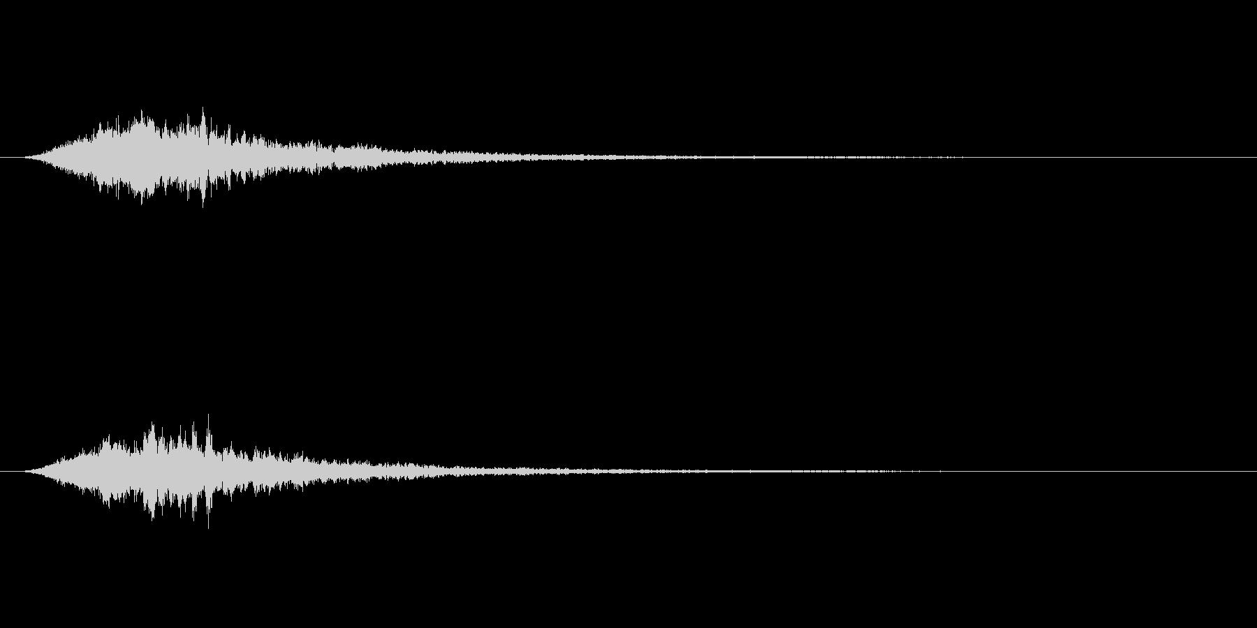 恐怖系で使えるトランジションSEの未再生の波形