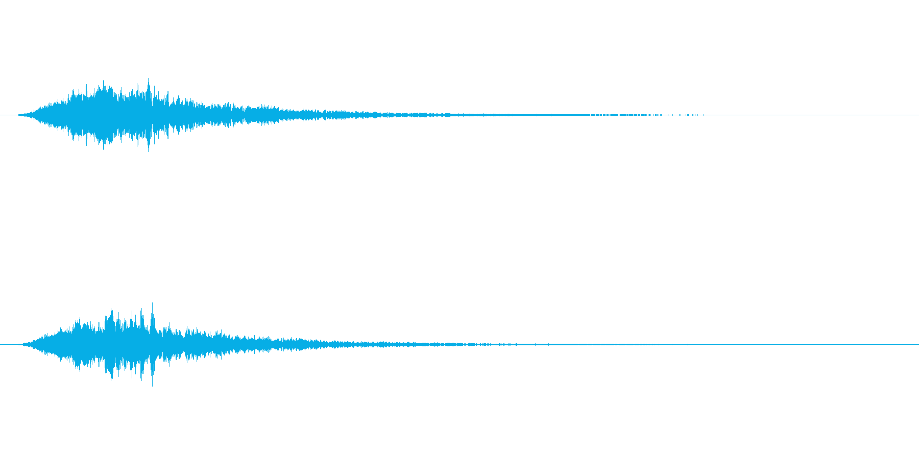 恐怖系で使えるトランジションSEの再生済みの波形