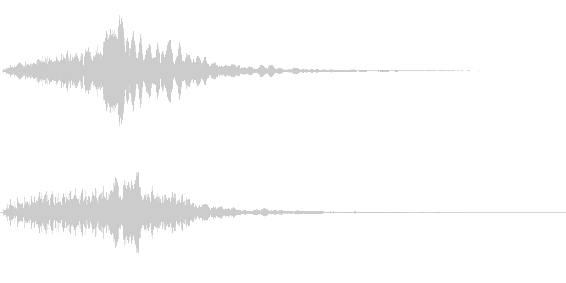 風をイメージした音と流れるハープの未再生の波形