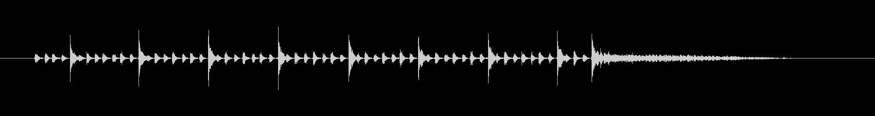 タンバリン(シャカシャカタン)の未再生の波形