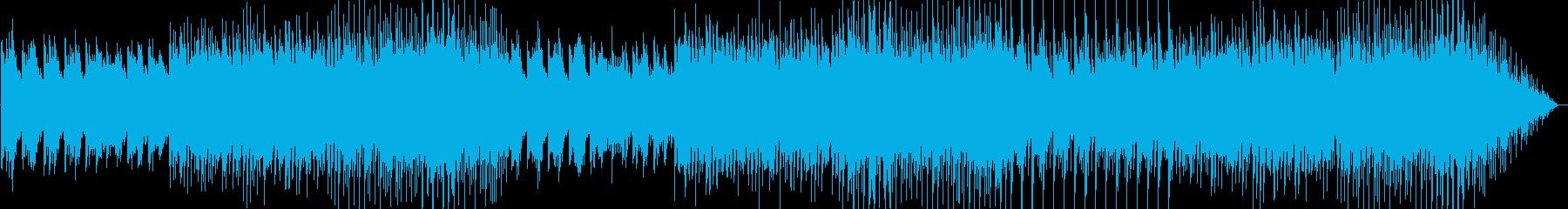森林を歩いているイメージのワルツの再生済みの波形