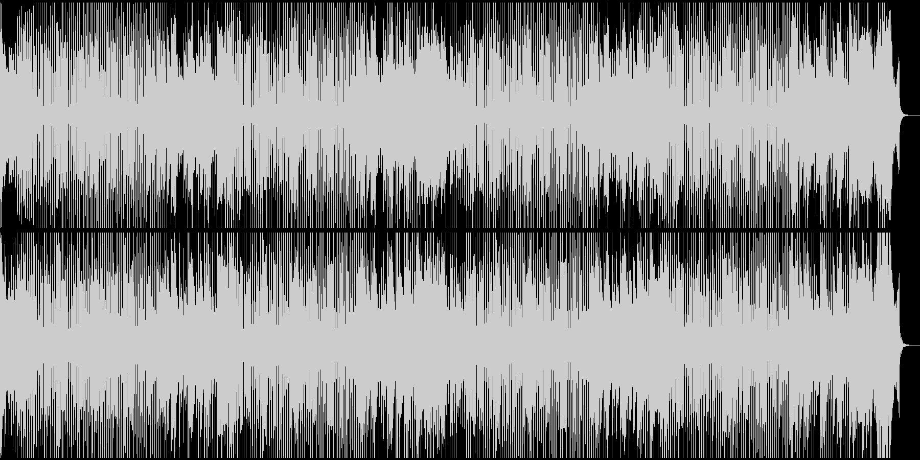 可愛い明るめのホーンのBGMの未再生の波形