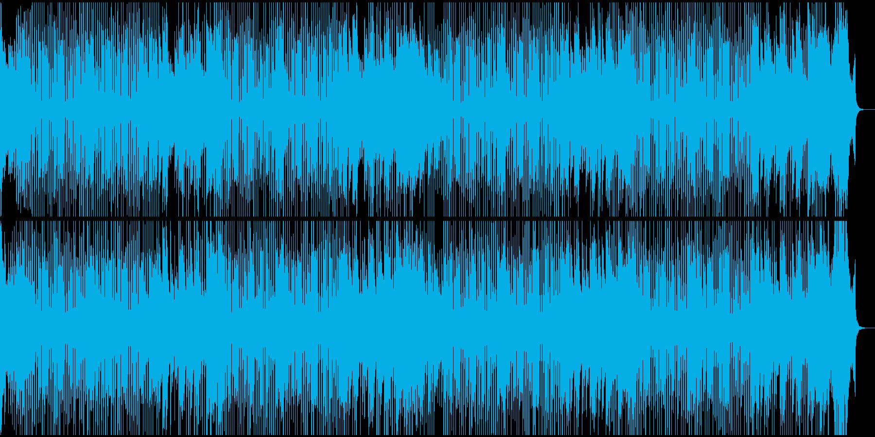 可愛い明るめのホーンのBGMの再生済みの波形