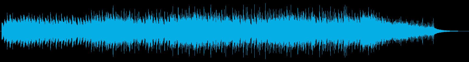 ホラーでミステリアスなシンセとロックの再生済みの波形