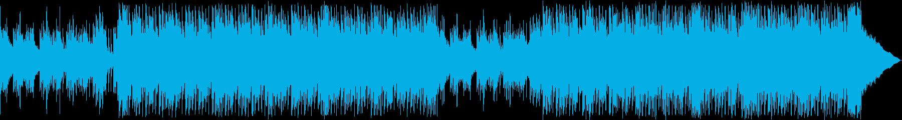 弾むように明るく爽やかなハウスBGMの再生済みの波形