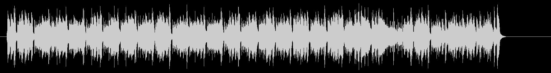 シャッフルのアコースティックポップスの未再生の波形