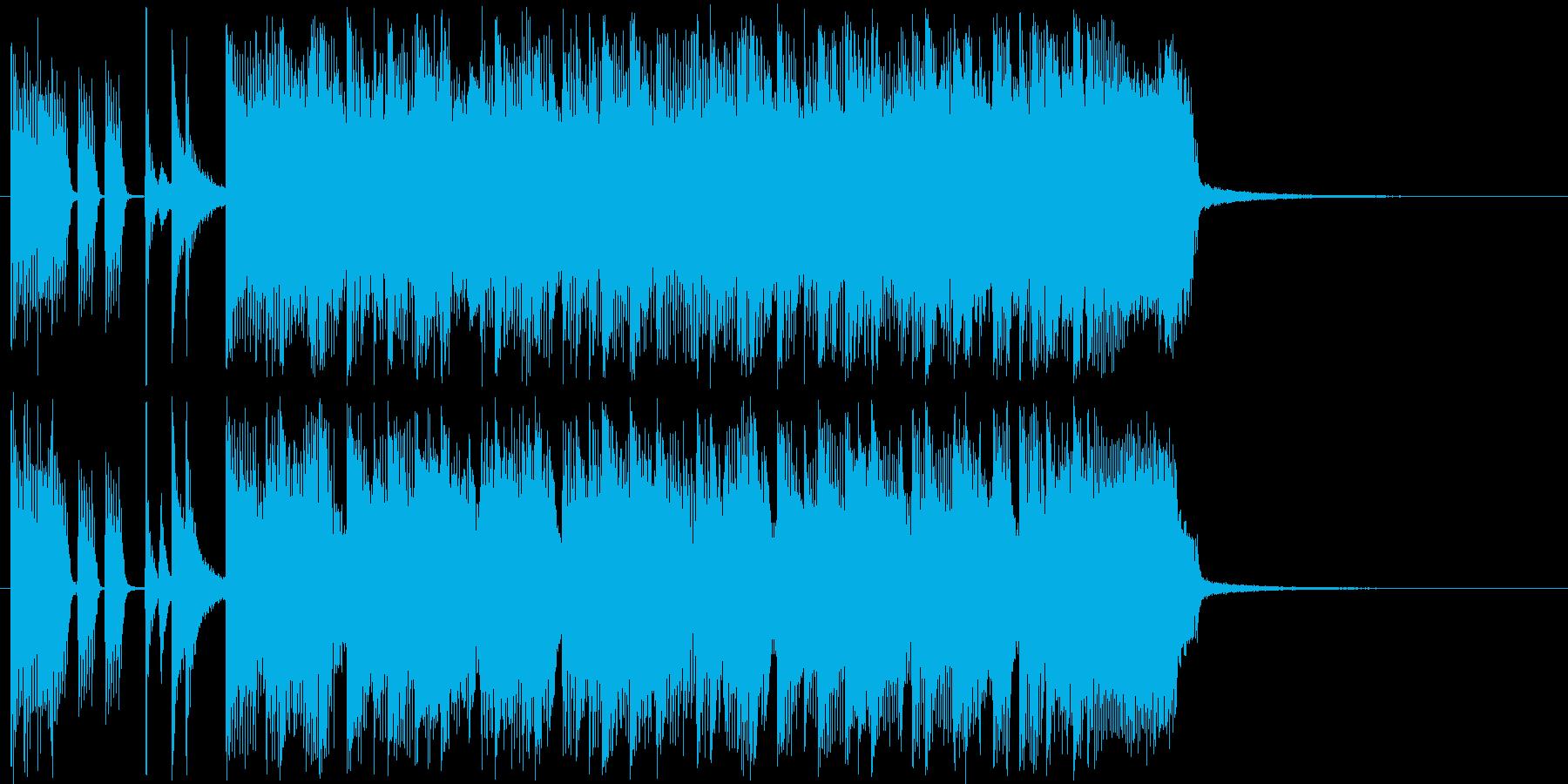 スピード感がありクールなハードロックの再生済みの波形