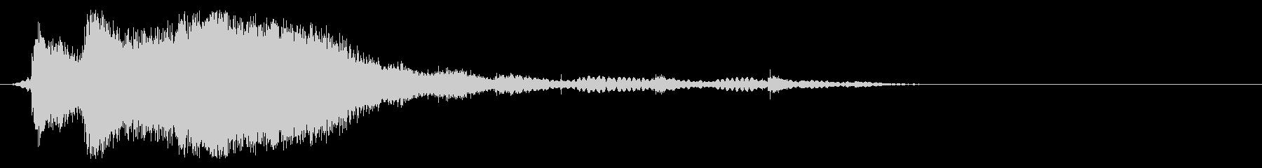ザバーン!(水に飛び込む効果音)01の未再生の波形