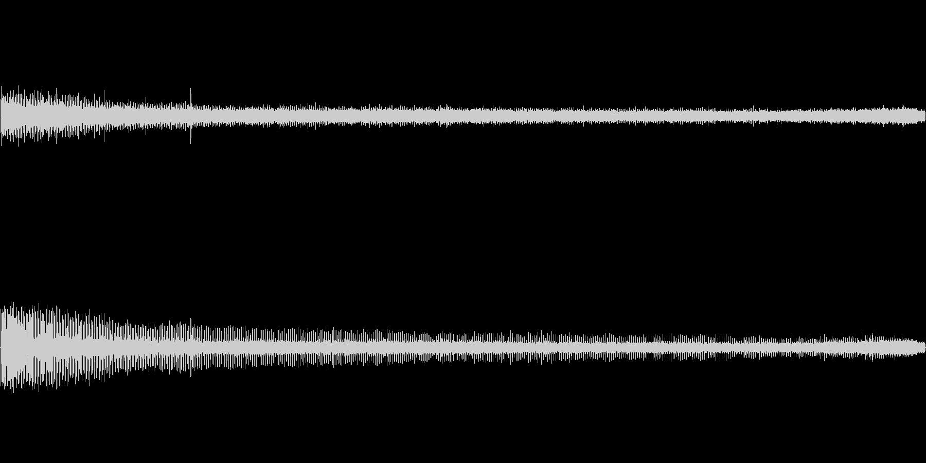 【生音】夏の日の通行音 - 7 「みー…の未再生の波形