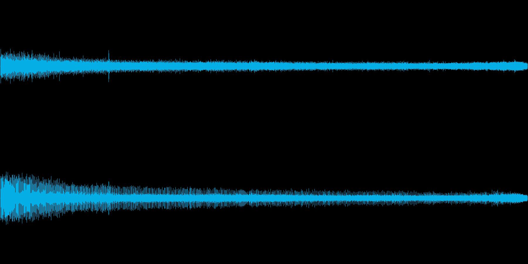 【生音】夏の日の通行音 - 7 「みー…の再生済みの波形