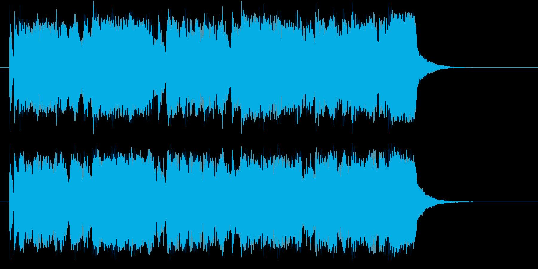 冒険の始まりを知らせる壮大なシンセ曲の再生済みの波形