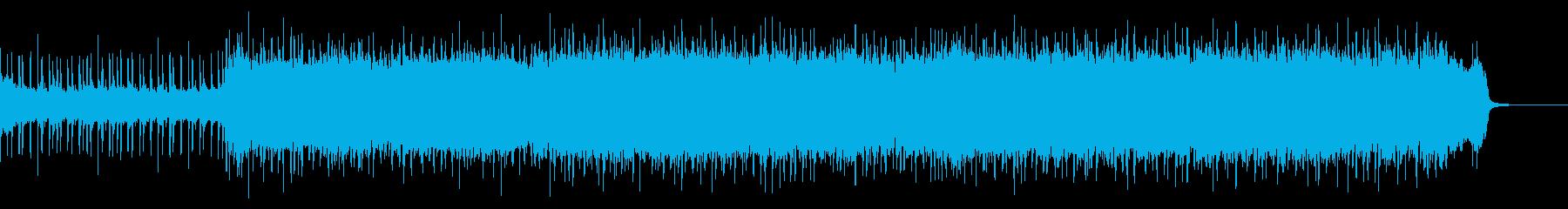 車、レース映像☆疾走感あるエレキロックの再生済みの波形