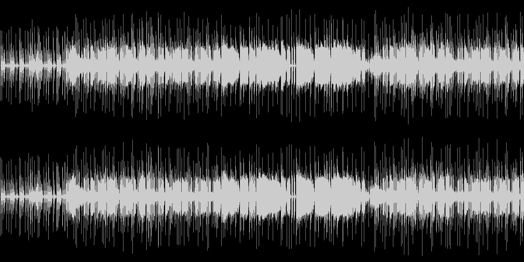 ピアノとオルガンのミドルテンポのポップスの未再生の波形