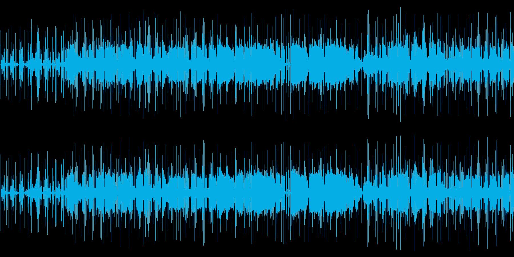 ピアノとオルガンのミドルテンポのポップスの再生済みの波形