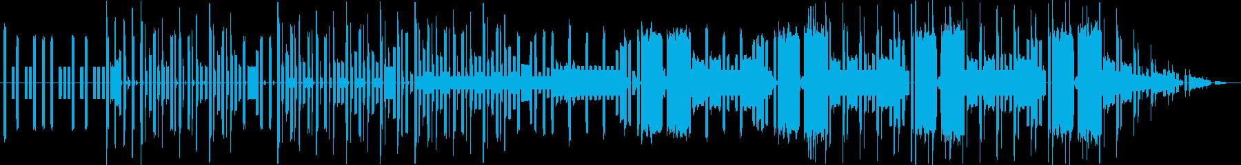 ファミコンサウンドのエレクトロの再生済みの波形