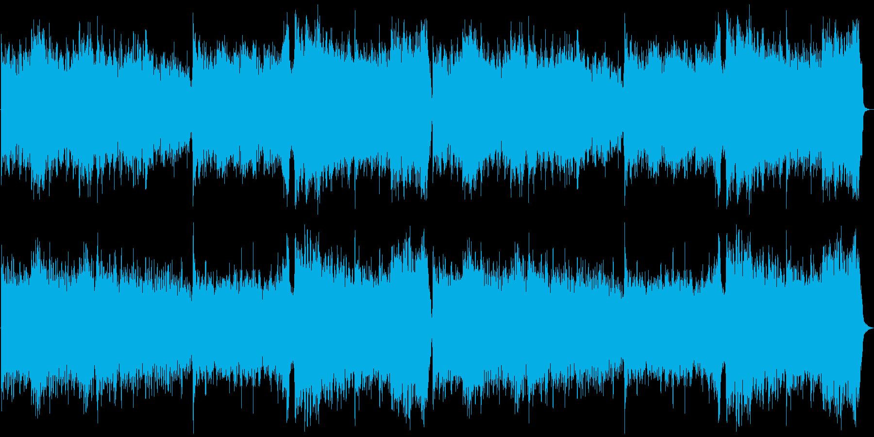 壮大なシネマティック曲の再生済みの波形