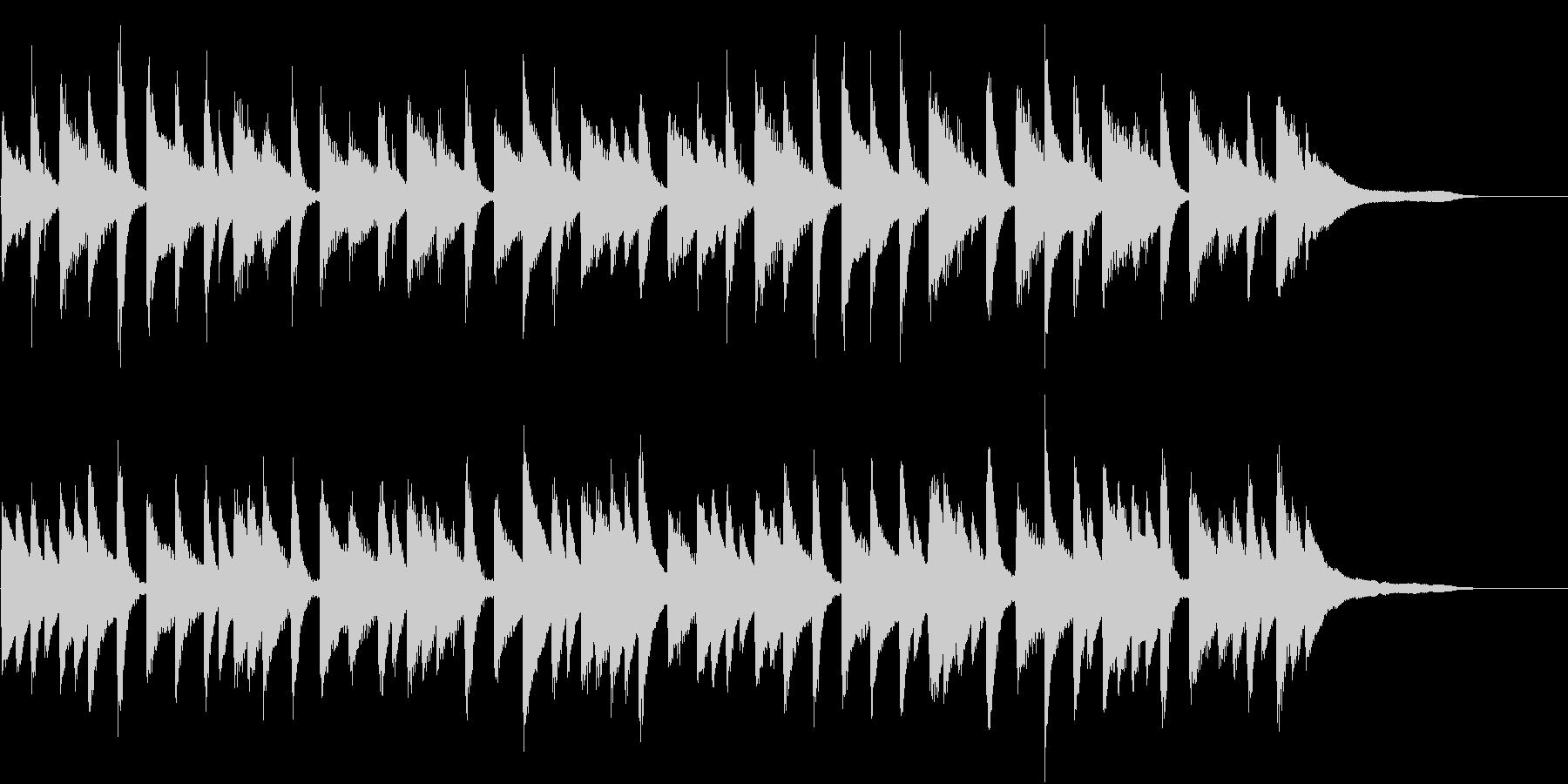 ピアノのワルツの未再生の波形