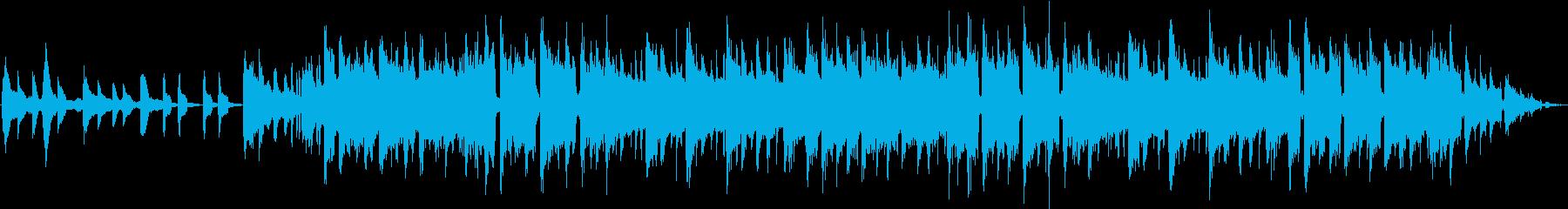 雨、チル、Lo-Fi、しっとり、ピアノ曲の再生済みの波形