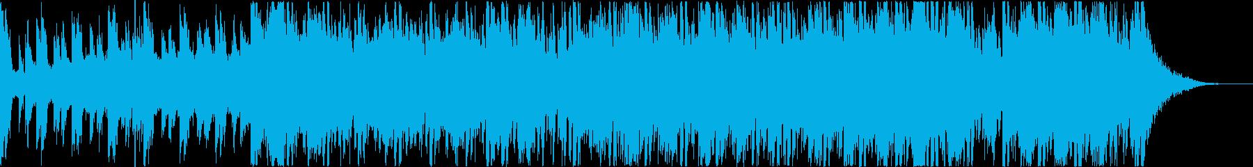 劇伴向けテクノ風の再生済みの波形