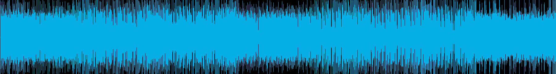 レトロ感の漂う宇宙的なテクノの再生済みの波形