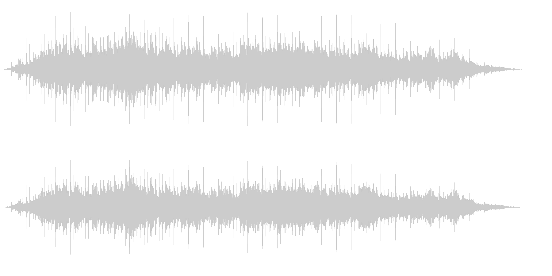 SONHOの未再生の波形