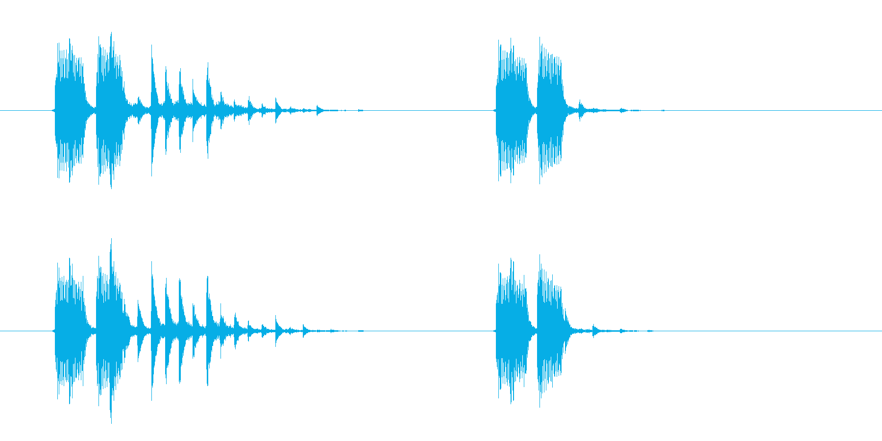 美しく神秘的なシンセサウンド短めの再生済みの波形