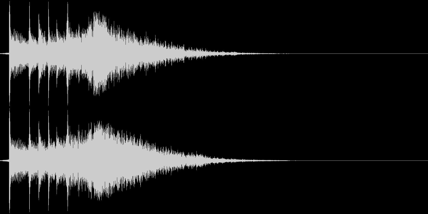 三味線と鈴の音の渋いジングルの未再生の波形