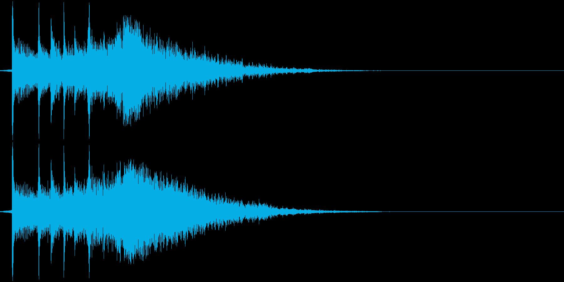 三味線と鈴の音の渋いジングルの再生済みの波形