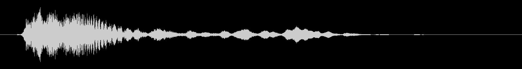 パチンコ、遊戯店台イベント音(ピキーン)の未再生の波形
