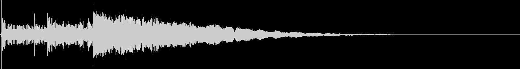 エレキギターのオーバードライブサウンドの未再生の波形