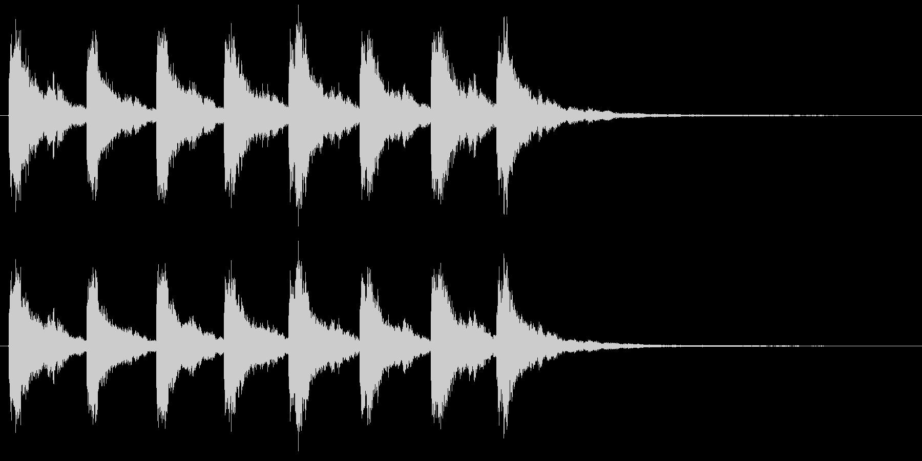 教会の鐘の音 8回キンコーーーーンの未再生の波形