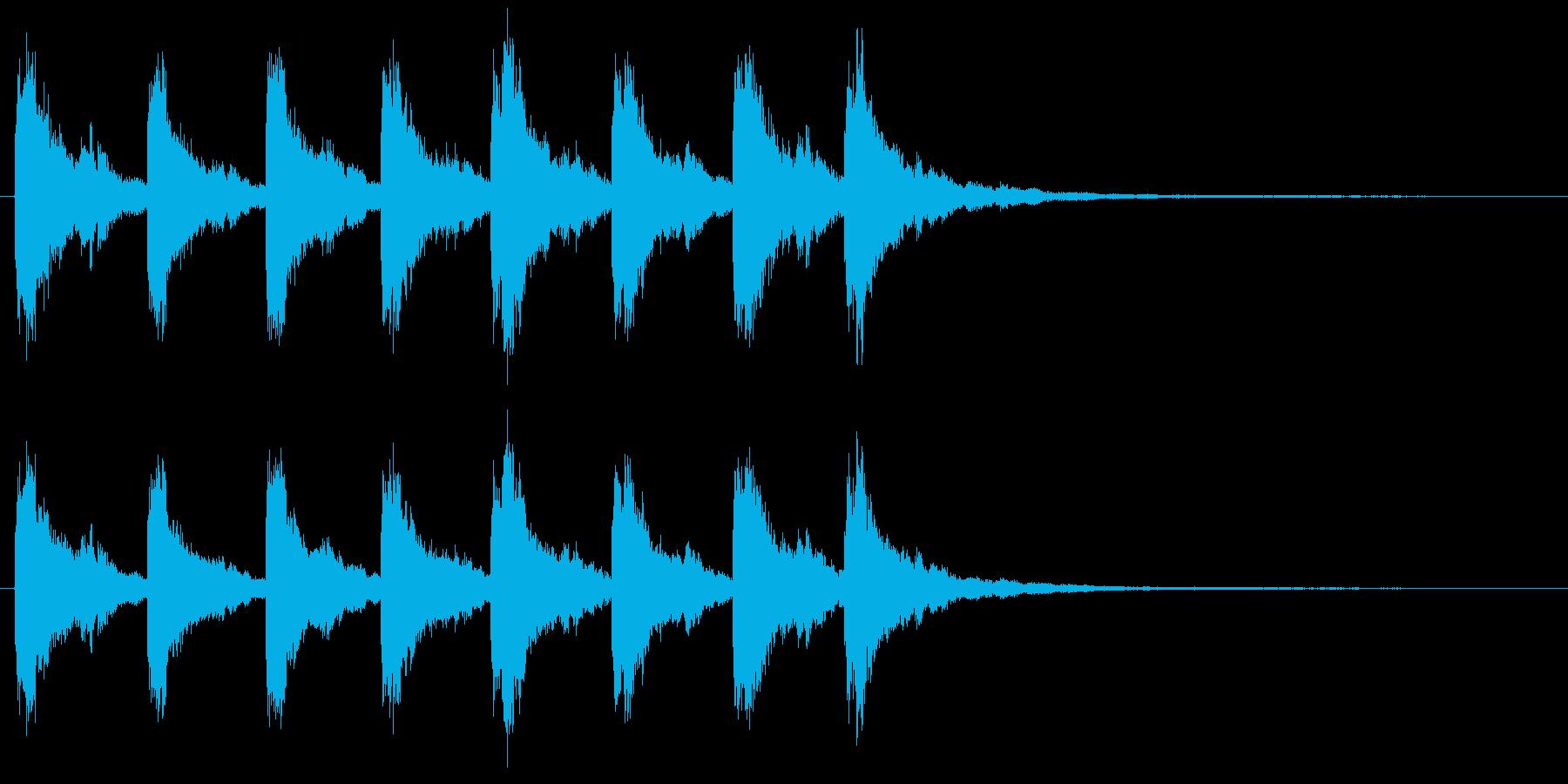 教会の鐘の音 8回キンコーーーーンの再生済みの波形