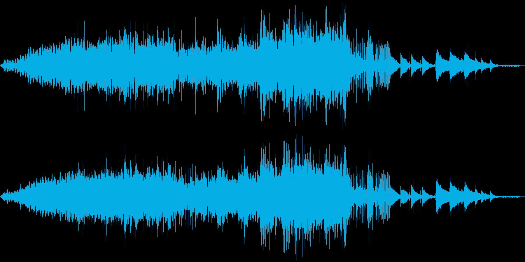 大自然の音の友に電子な音も入っていますの再生済みの波形