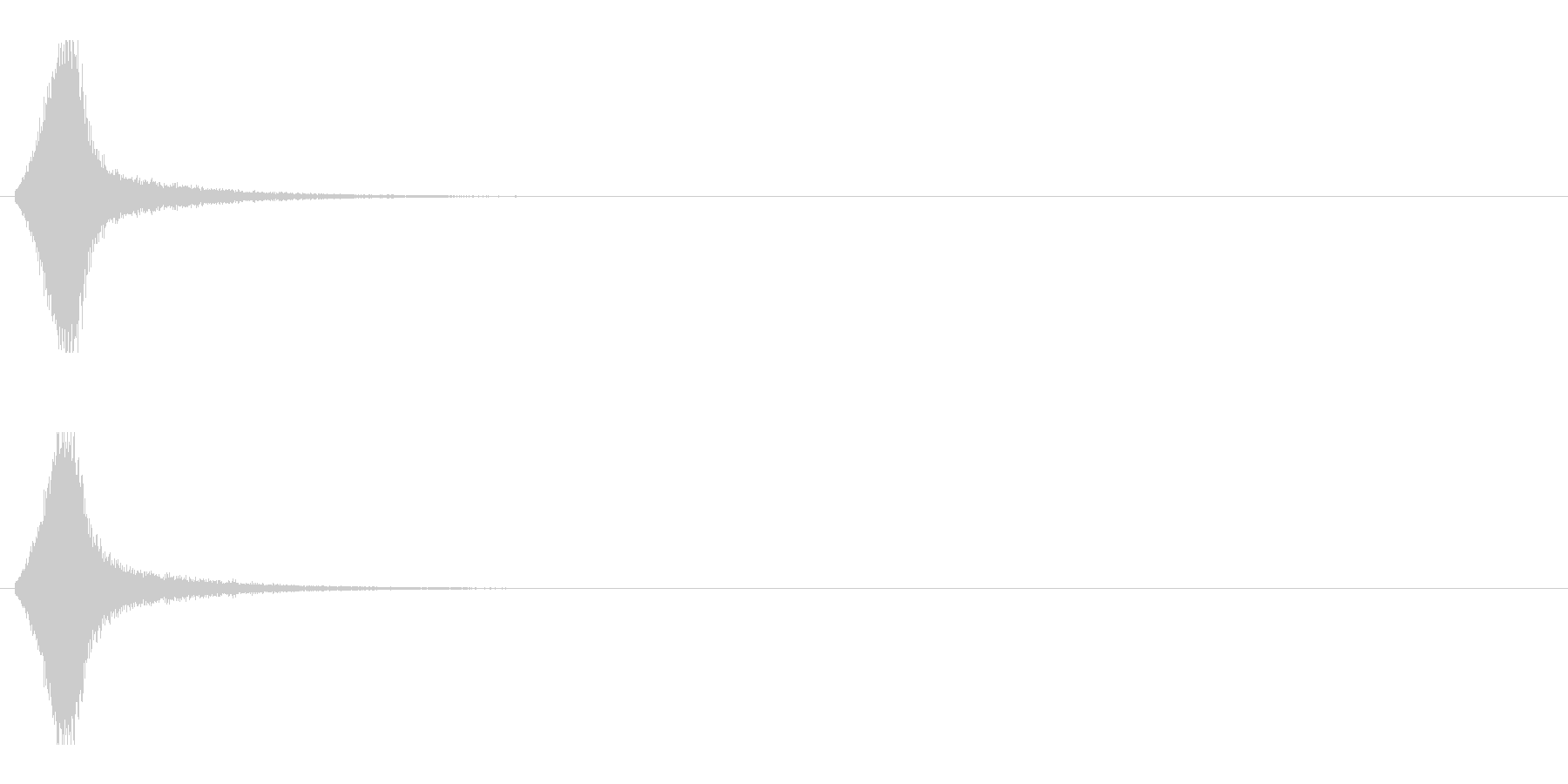 レーザー音-157-1の未再生の波形