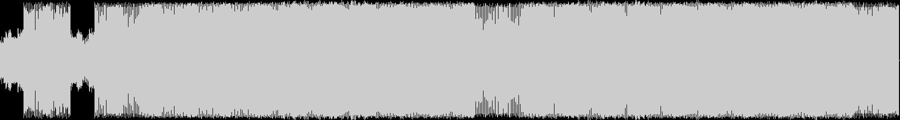 コミカルなインベーダーゲーム風のダンス曲の未再生の波形