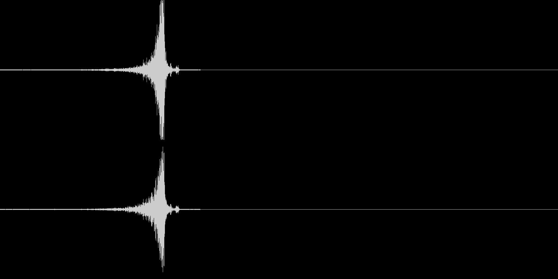 ワンショットリバース音の未再生の波形
