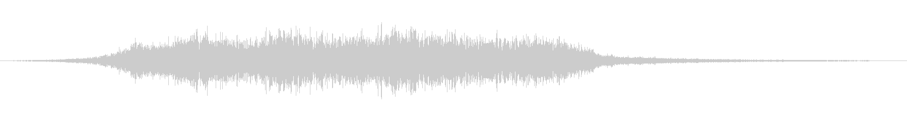 緊張 ゴースト合唱団トランジション02の未再生の波形