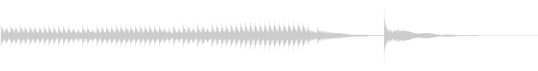 どんどんどんどん・・どん!ドラムロールの未再生の波形